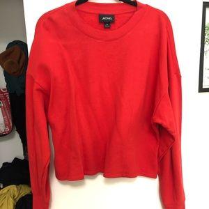 Monki Tops - Monki Fitted Balloon Sleeve Sweatshirt